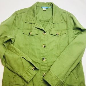 Cotton connection  green casual jacket size m